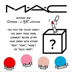 MAC cosmetics mystery lipstick box